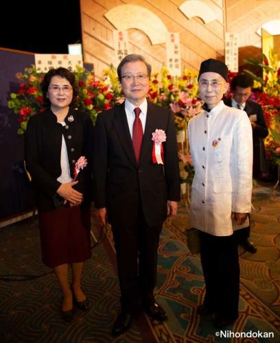 2019年5月7日、中華人民共和国駐日本国大使館 程永華駐日大使の離任レセプションが行われ、 日本タオイズム協会早島妙聴理事長は招待をうけ参加しました